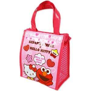 Hello Kitty] square lunch bag TM ~ Sesame Street collaboration series