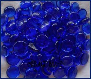 MINI CoBaLt Blue Clear glass gems Mosaic TILE Tiles