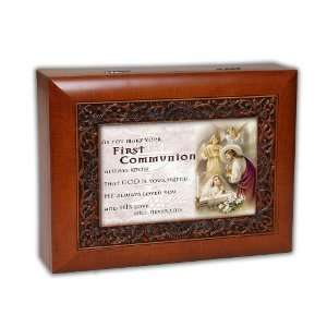 Cottage Garden First Communion Music Box Plays Wonderful