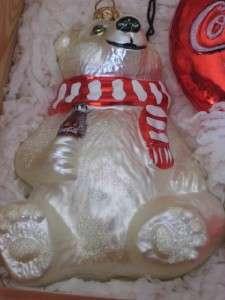 POLONAISE Vintage Box Set of 4 COCA COLA Bear Collection Christmas