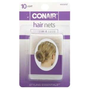 Conair Hair Nets, Light 10 hair nets Health & Personal