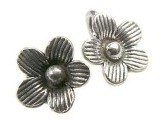 Thai Karen Hill Tribe silver Tiny daisy flower charm