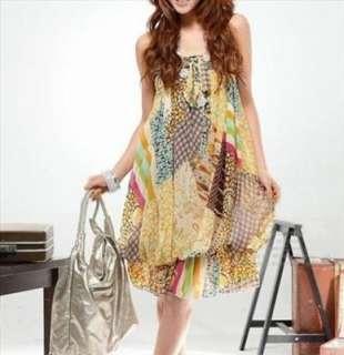 NWT Summer Halter Tube Maxi Dress @Mix Floral Yellow