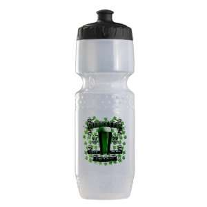 Trek Water Bottle Clear Blk Shamrock Pub Luck of the Irish