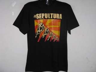 NEW SEPULTURA NATION HEAVY METAL T Shirt Size L
