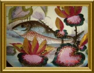 ANTIQUE LIMOGES Oscar Gutherz Porcelain Fish Set RARE