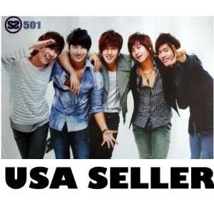 SS501 all standing POSTER 34 x 23.5 Korean boy band SS 501