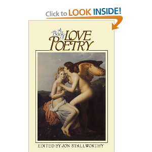 A Book of Love Poetry (9780195042320): Jon Stallworthy: Books
