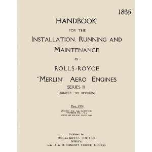 Rolls Royce Merlin II Aircraft Engine Maintenance Manual