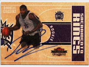 DeMARCUS COUSINS 2010 PANINI THREADS RC AUTO CARD #/399