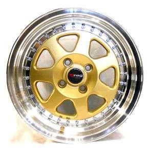 Drag dr27 low offset +10 gold civic integra crx wheel
