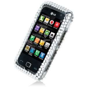 USA AMERICAN FLAG CRYSTAL 3D BLING CASE FOR LG GM750 Electronics
