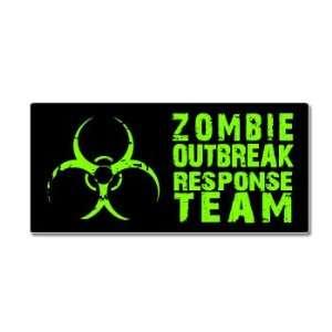 Zombie Outbreak Response Team   Green   Window Bumper Sticker