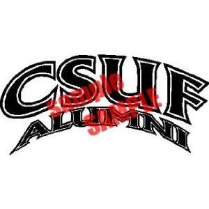 CSUF ALUMNI LOGO VINYL WHITE DECAL STICKER Everything