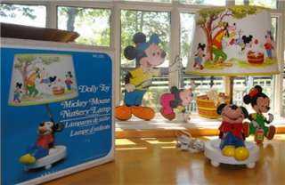 Vtg~Dolly Toy Co~Walt Disney~Mickey Mouse~Nursery~Child~Lamp~Pin ups