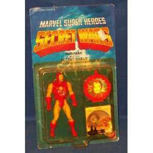 Original Marvel Secret Wars IRON MAN Action Figure w/Secret