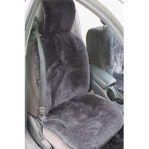 Universal Sheepskin Car Seat Cover, GREY, Size 1 SIZE