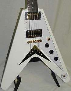 Epiphone Custom Shop Limited Edition 1958 Korina Flying V Alpine White