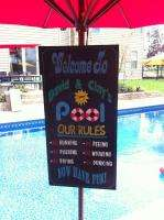 HAND PAINTED custom POOL RULES PERSONALIZED WOOD SIGN YOUR RULES