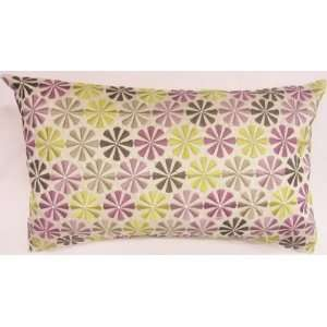 SUPERB PURPLE DAMSON CREAM EMBROIDERED APPLIQUED SHABBY CUSHION CHIC