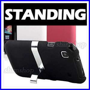 SAMSUNG GALAXY S I9000 MATTE BLACK KICK STAND HOLD HARD CASE COVER