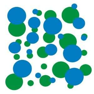 com set of 106 Blue and Forest Green polka dots Vinyl wall lettering