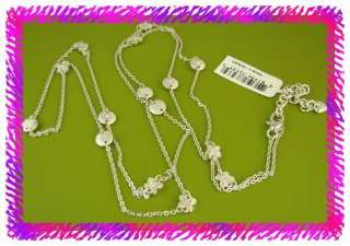 BRIGHTON Silver DIVA DAISY Long Necklace NWTag