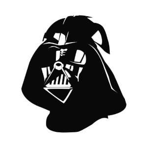 Darth Vader Die Cut Vinyl Decal Sticker   6 Black
