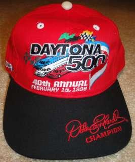 Dale Earnhardt Champion NASCAR Hat ~ 40th ANNUAL DAYTONA 500  Feb