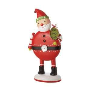 3 Whimsical Wafer Santa Table Top Display Figurine
