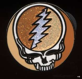 grateful dead PIN STEAL YOUR FACE metal flake F