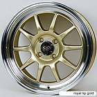 ROTA GT3 15X7 4X100 ET40 67.1 HUB GOLD RIMS WHEELS