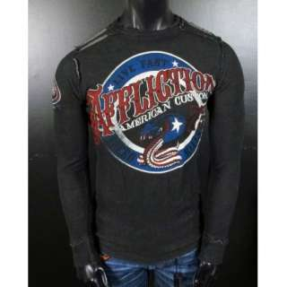 Affliction REVERSIBLE Thermal Shirt KISS OF DEATH American Customs