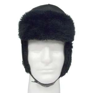 Russian Style Police Hat Cap with Ear Flaps & 100% Soft Synthetic Wool
