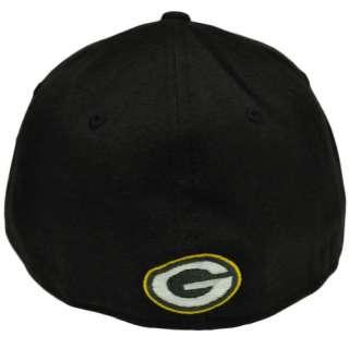 Black Flex Fit Cap Hat NFL Green Bay Packers Large 886614239100