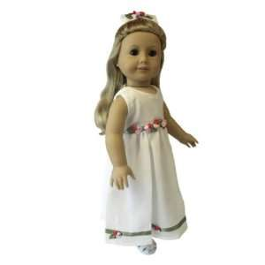American Girl Doll Clothes Ivory Floral Dress Toys & Games