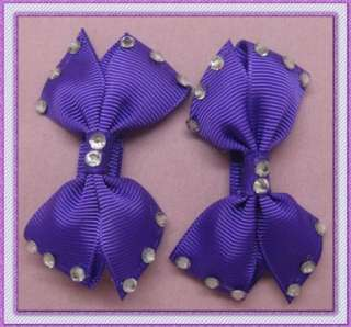 50PAIRS GIRLS BABY HAIR BOW CLIP DIAMOND BUTTERFLY ALLIGATOR CLIP