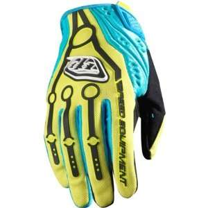 Mens Motocross/Off Road/Dirt Bike Motorcycle Gloves   Yellow / Large