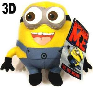DESPICABLE ME 3D MINION Jorge Stuffed Plush Toy RARE