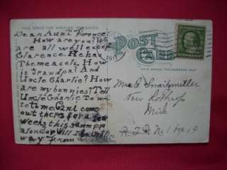 Log Cabin Palmer Park Detroit Michigan Vintage Postcard