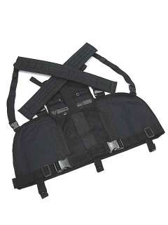 SWAT Airsoft Molle Chest Rig Platform Carrier Vest BK