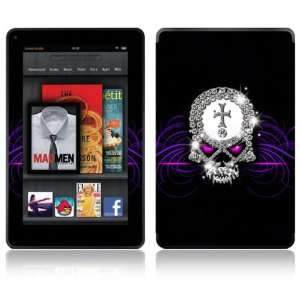 Kindle Fire Decal Skin Sticker   Goth Bling Skull