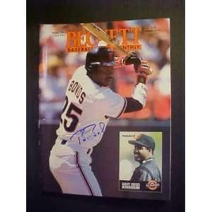 Barry Bonds San Francisco Giants Autographed October 1993