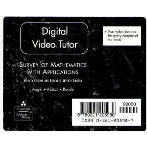 Digital video tutor DVD for Survey of Mathematics with