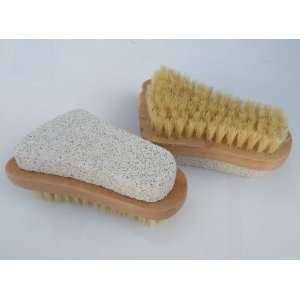 Your Soul ! 2pcs/Set 2 in 1 Nail Brush w/Pumice Stone,Beautiful Foot