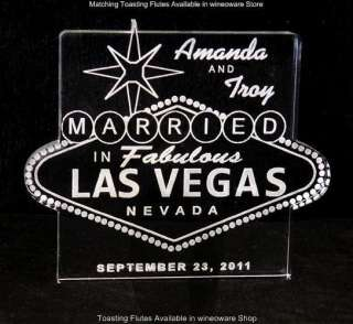 Las Vegas Sign Wedding Cake Topper  Personalized Free