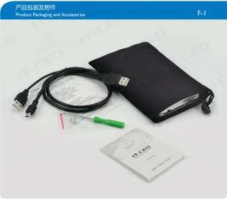Tool Free Aluminum 2.5 SATA IDE Dual Mode HDD Hard Drive USB 2.0 Case