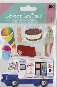 Jolees Boutique ICE CREAM MAN Dimensional stickers TRUCK