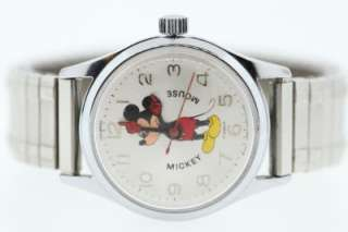 Helbros Vintage Walt Disney Mickey Mouse Wrist Watch 17 Jewels
