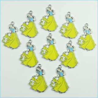 Princess Snow white Metal Charms Pendants DIY Jewelry Making